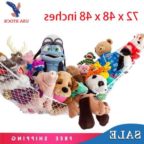 2PK Jumbo Hammock Toy Net Organizer Corner Stuffed Animals K