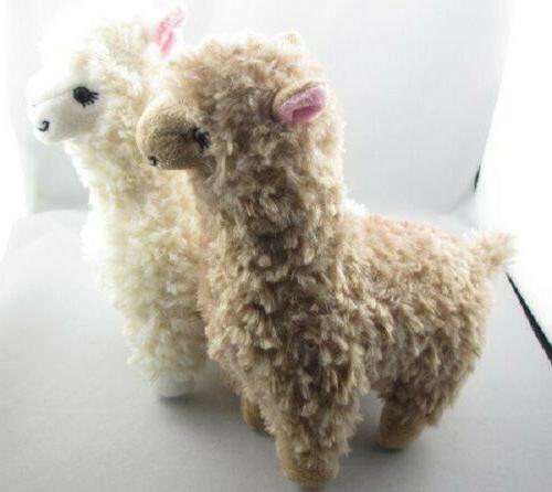 2x Plush Cream Llama Kids Doll