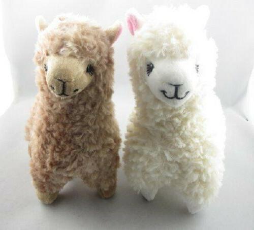 2x Alpaca Toy 23CM Cream