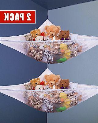 2ps Kids Toy Net Hammock Organizer Corner Stuffed Animals Ha