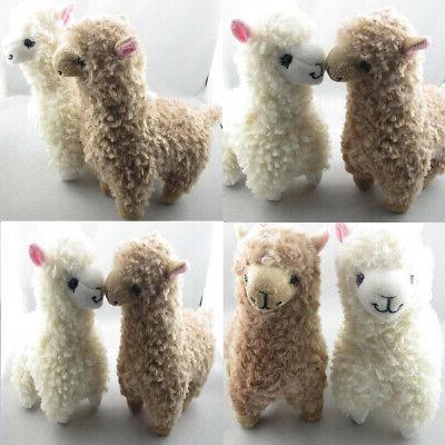 2x Cute Kids Plush Camel Cream Animal Doll