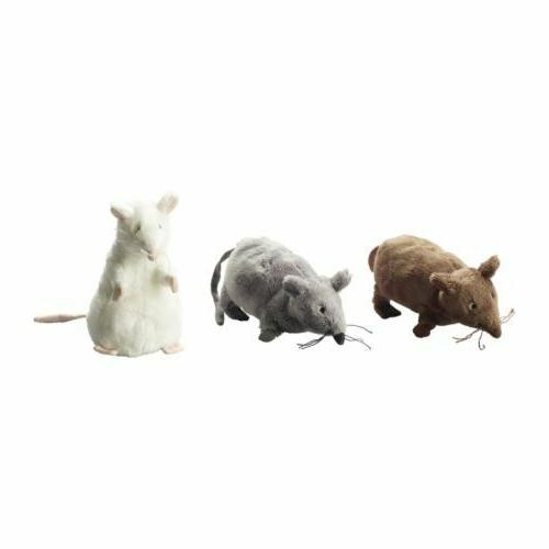 3 Ikea Gosig Mus Soft Mouse Mice Plush Toy Stuffed Animal Ra