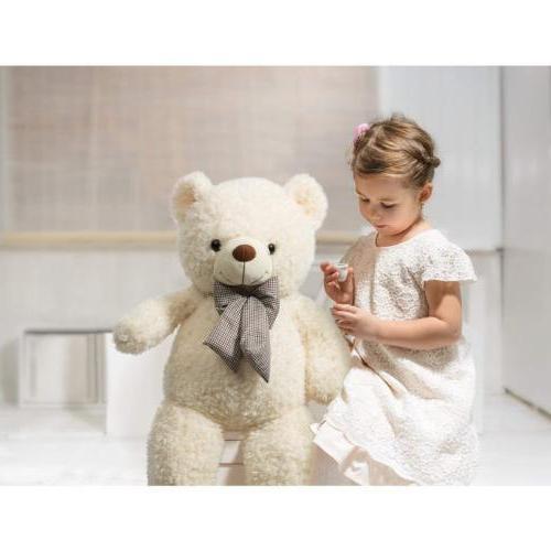 32 Inch Bear Toy Stuffed Beige