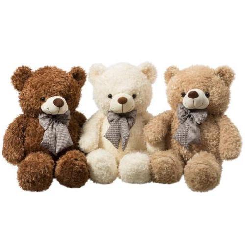 32 Inch Bear Toy Christmas Gift Stuffed Cuddly Bear Beige