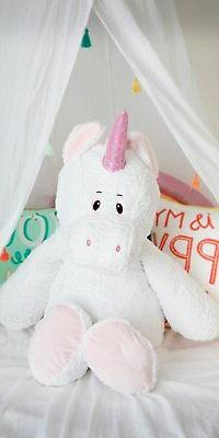 "The Petting Zoo- 36"" Super Soft Pink Jumbo Sunggler Unicorn"
