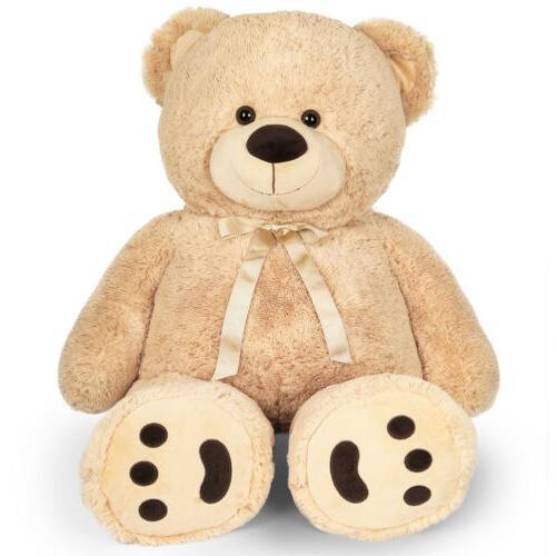 "39"" Big Teddy Bear Brown Stuffed Plush Animal Toy Birthday V"