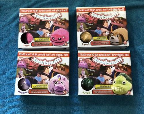 4 Muncheez Stuffed Animals Entire collection