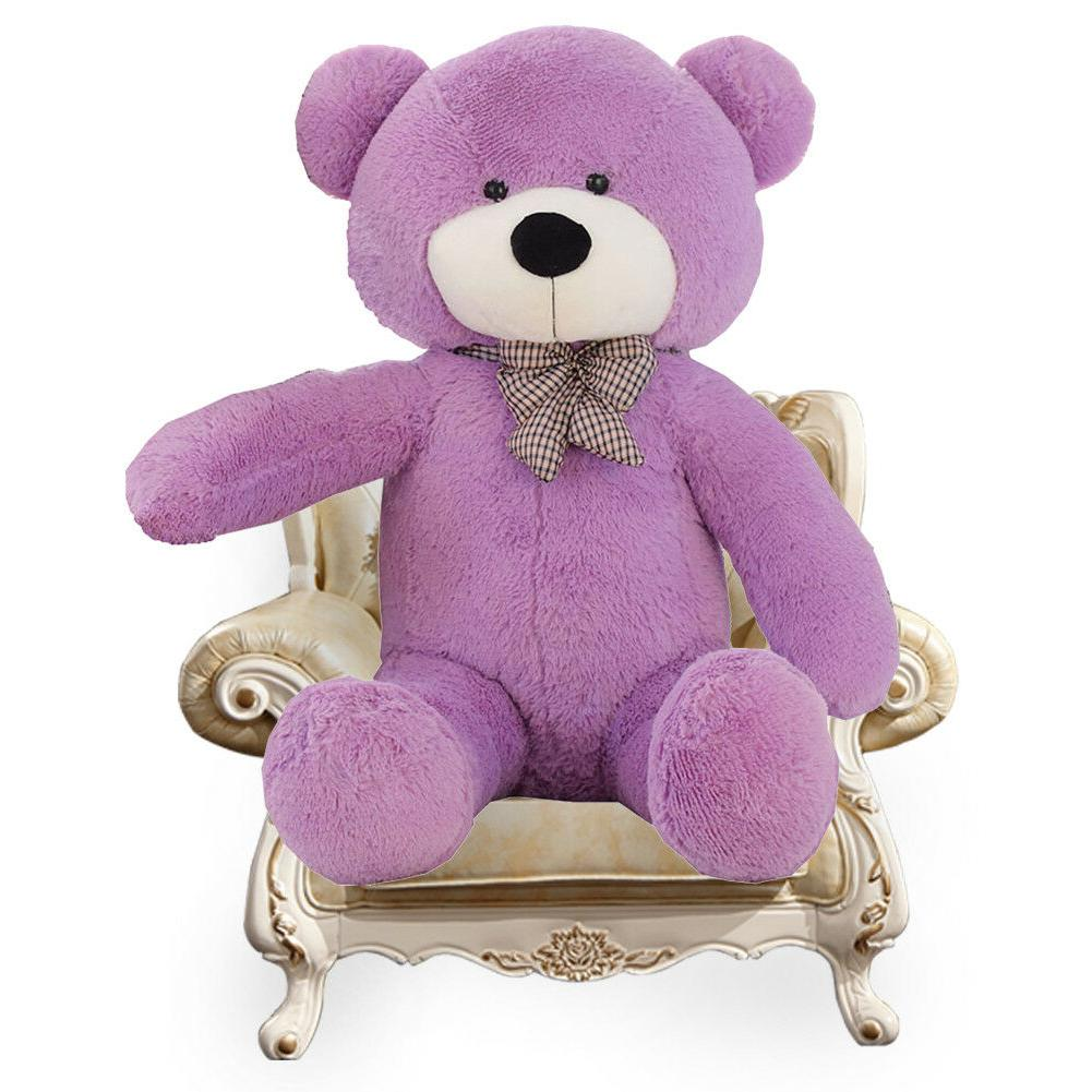 Giant Bear Purple Huge Plush Toy Gift 47""