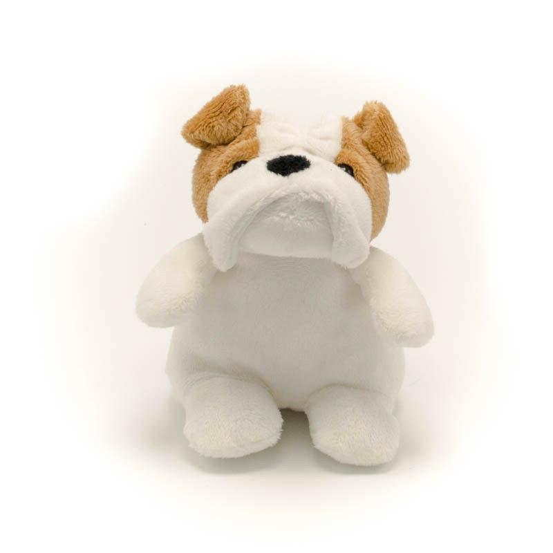 """5"""" Stuffed Animal White Bulldog Bean Plush Toy Child Gift To"""