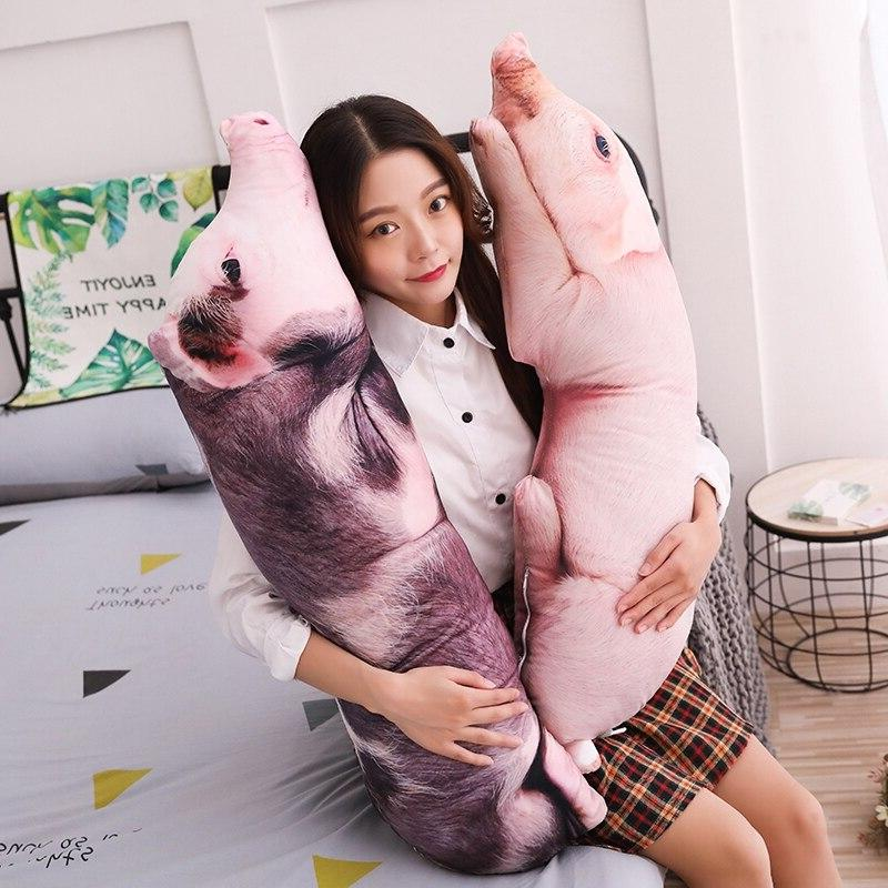 50 120cm simulated sleeping pig plush pillow