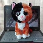 "6"" Tauri Multi-Color Cat TY Beanie Boos Plush Stuffed Animal"