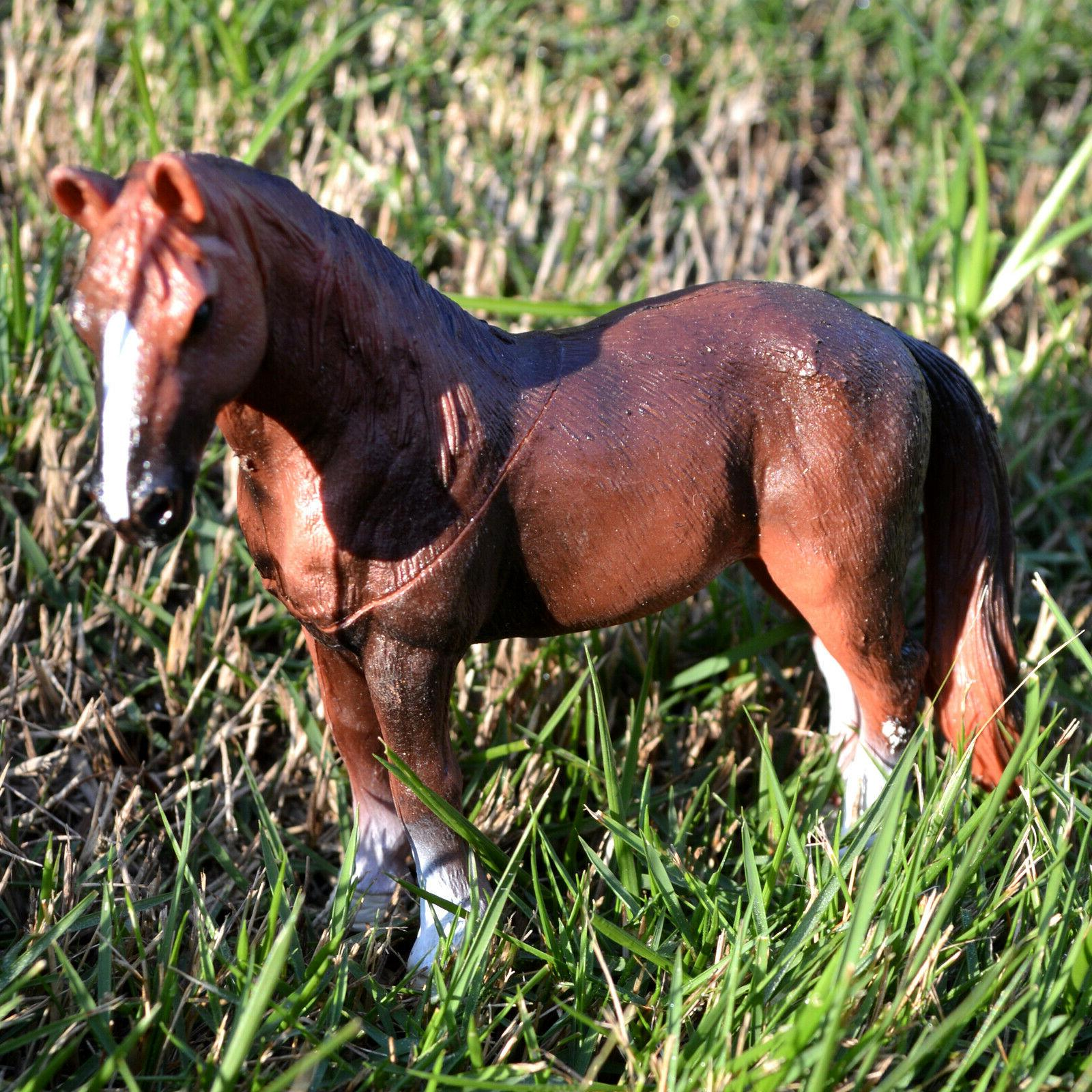 6 Educational Farm Animals Set Horse Donkey Cattle Goat
