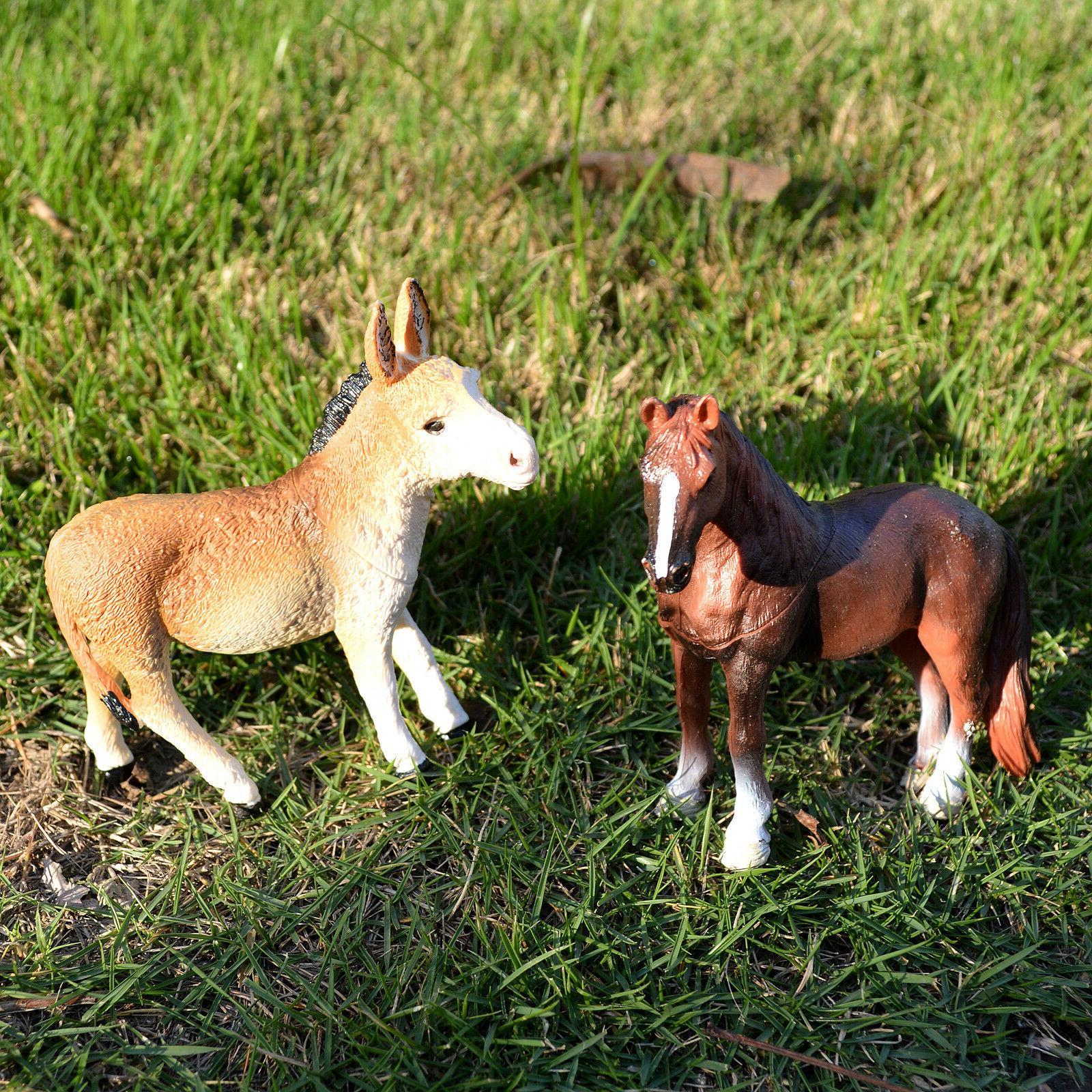 6 Animals Toys Donkey Sheep Goat