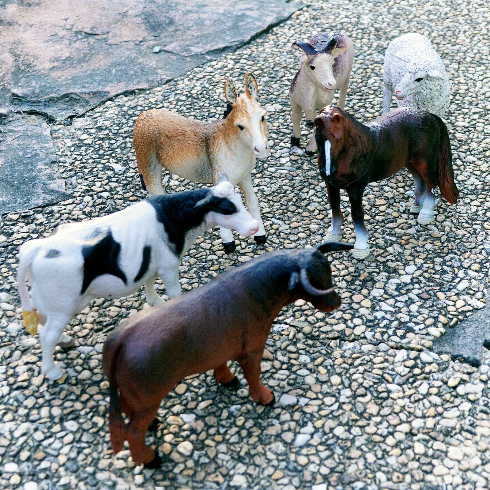 6 pieces jumbo plastic educational forrest animals