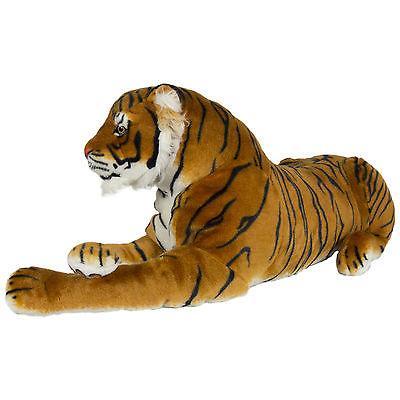 Large Tiger Plush Realistic Orange Bengal Pillow