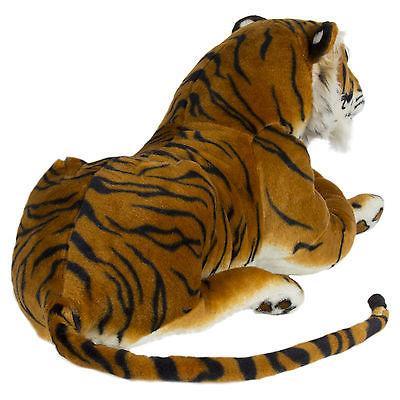 Large Tiger Plush Animal Realistic Orange Bengal Stuffed Pillow