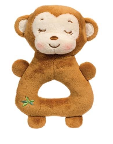 7 Inch Monkey Plush Stuffed Animal Rattle Baby Toy by Dougla