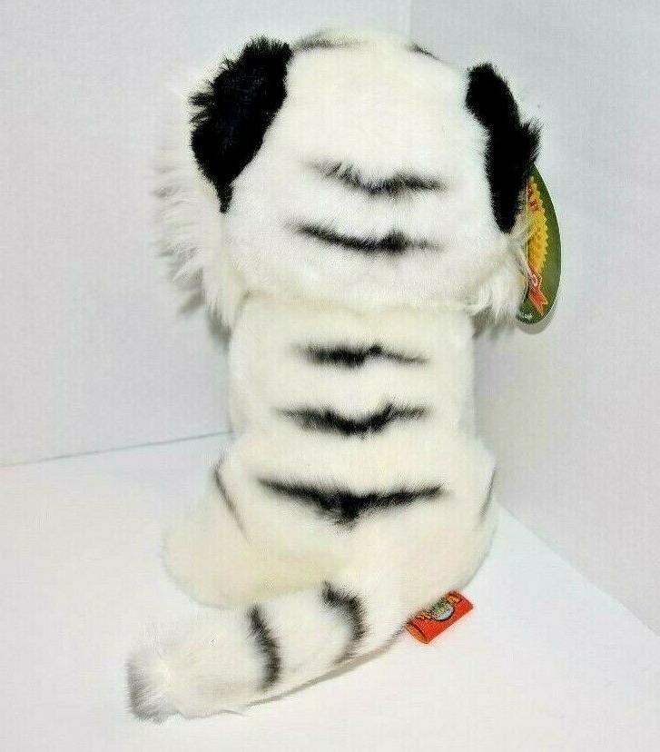 """7"""" White Plush Stuffed Animal Baby Jungle"""
