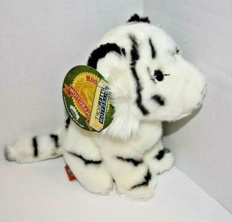 "7"" White Tiger Stuffed Soft Jungle"