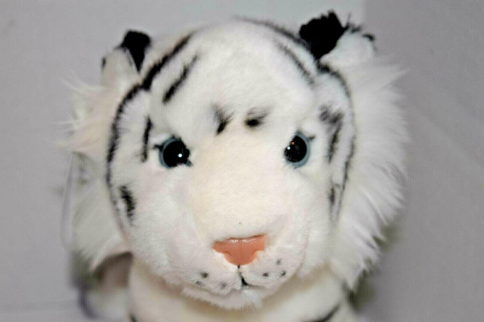 "7"" White Tiger Stuffed Animal Soft Jungle"