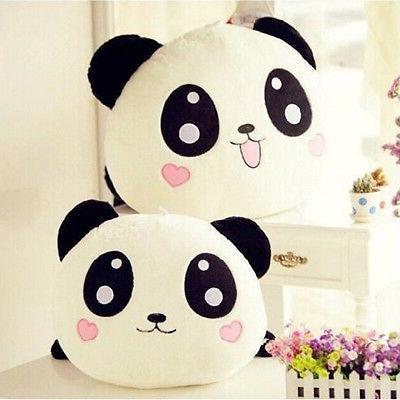 "8"" Cute Toy Stuffed Panda Pillow Bolster"