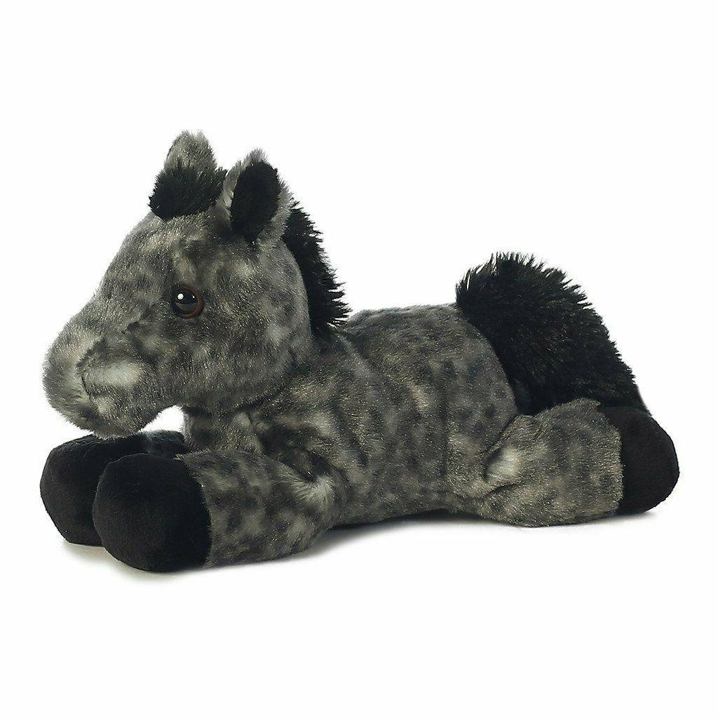 8 Mini Grey Horse Plush Stuffed Animal & Adoption Cert