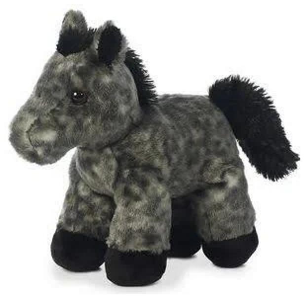 8 inch mini flopsie grey horse plush