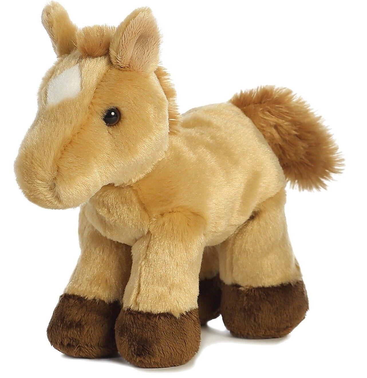 8 Inch Mini Horse Plush Stuffed Animal by Aurora & Adoption