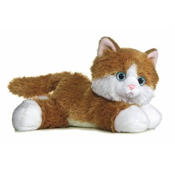 8 Inch Mini Kitty Plush Stuffed Animal by Aurora Adoption Cert