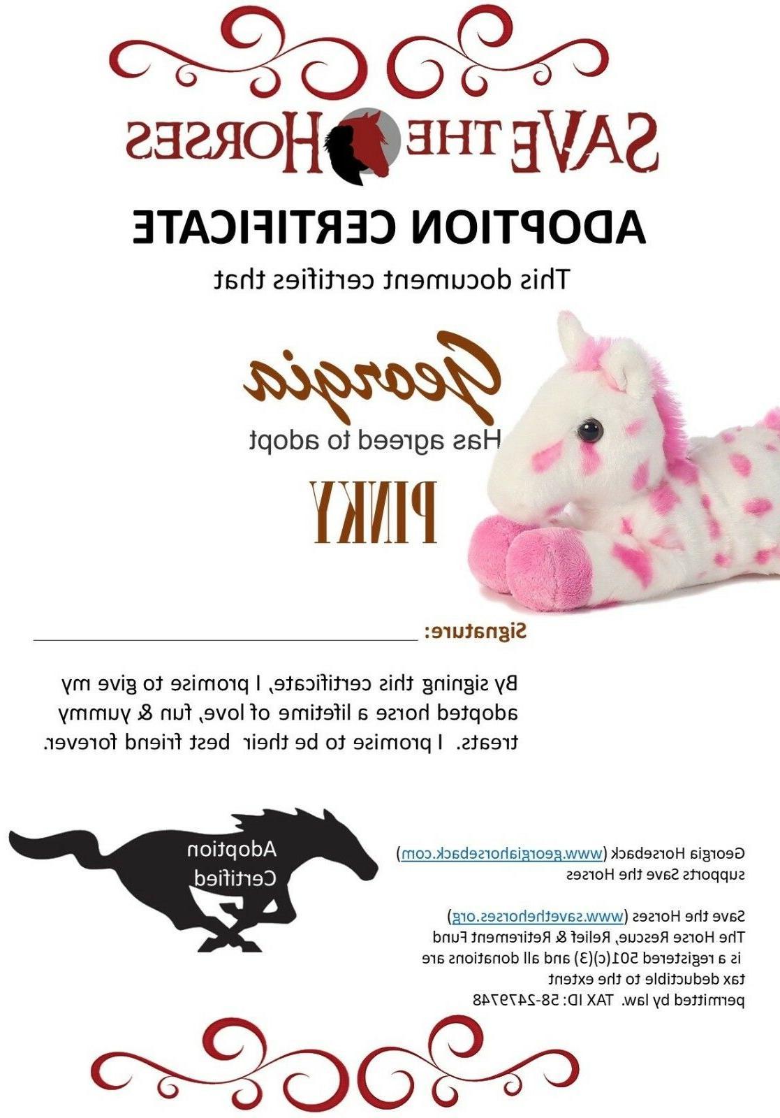 8 Inch Mini Flopsie Pink Horse Animal Adoption