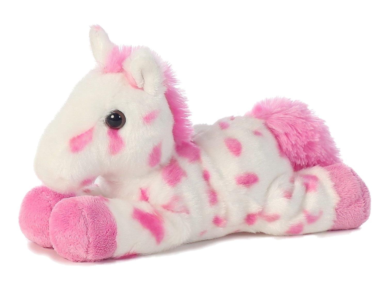 8 Inch Mini Pink Plush Horse Stuffed Animal by Aurora Adoption