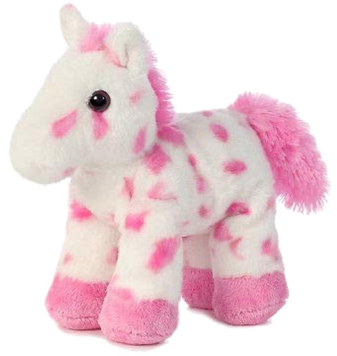 8 inch mini flopsie pink plush horse