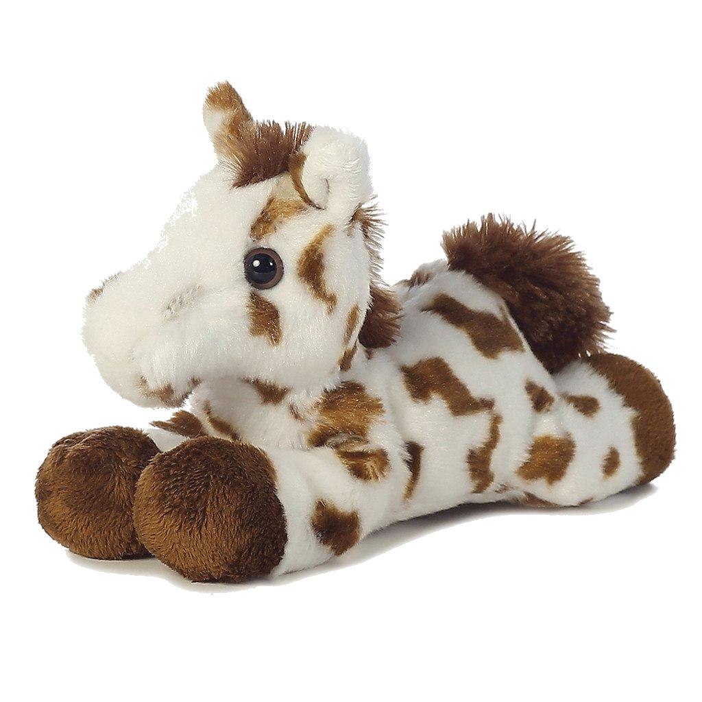 8 inch mini flopsie spotted horse plush