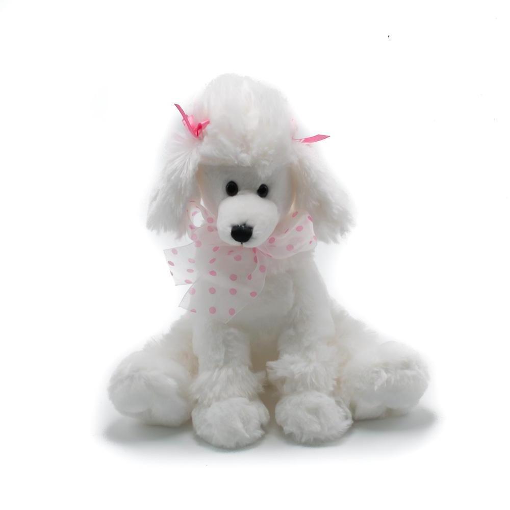 9 5 poodle plush white stuffed animal