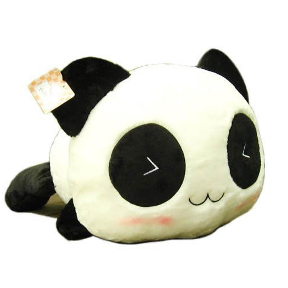 "7"" High Doll Toy Plush Animal Panda Cushion 1 pack"