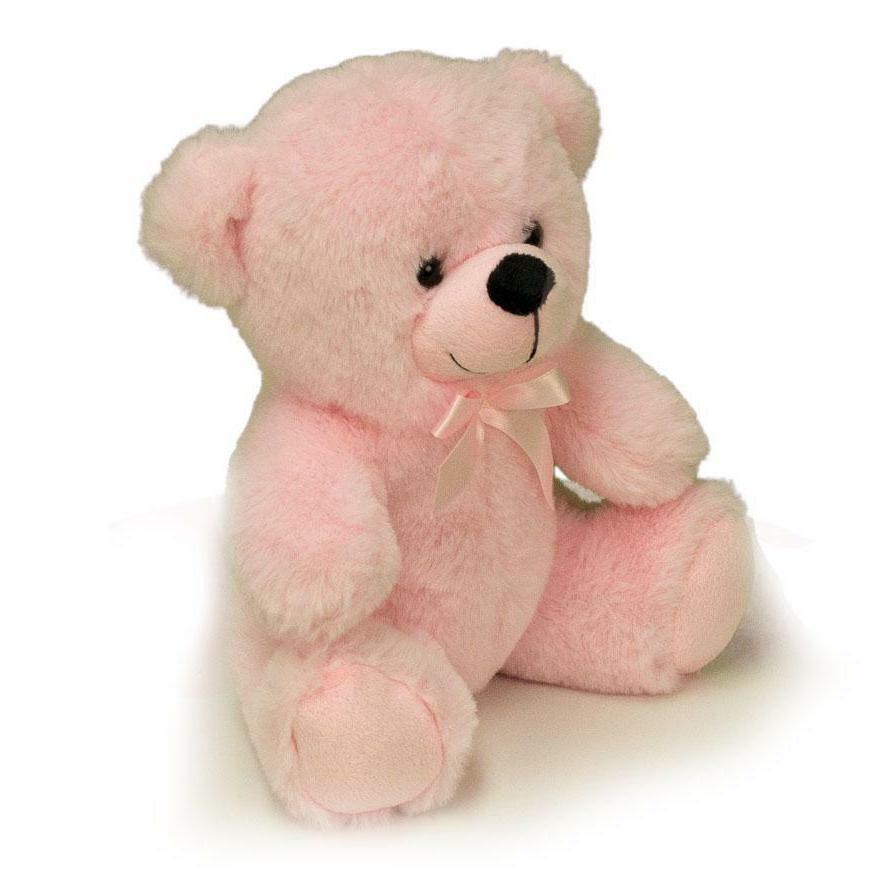 "9"" Pink Teddy Stuffed Toy Gift"