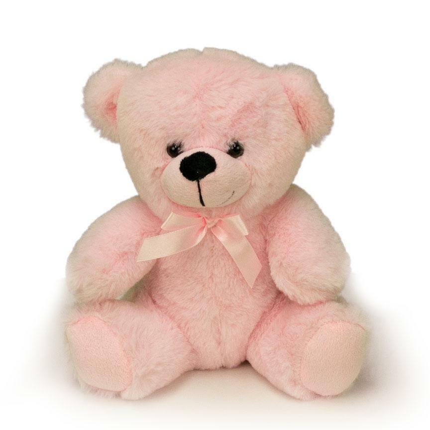 9 baby pink plush teddy bear stuffed