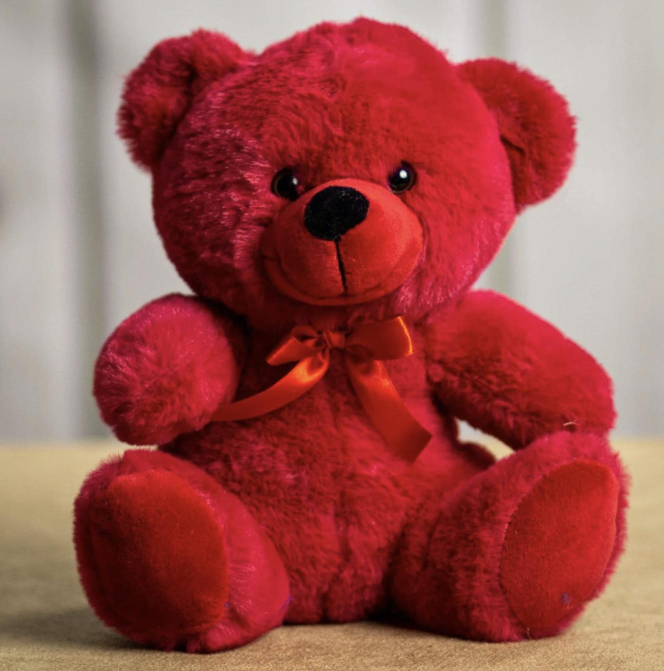 9 red plush teddy bear stuffed animal