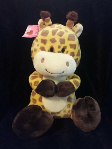 ANIMAL ADVENTURE 2016 brown yellow GIRAFFE plush stuffed ani