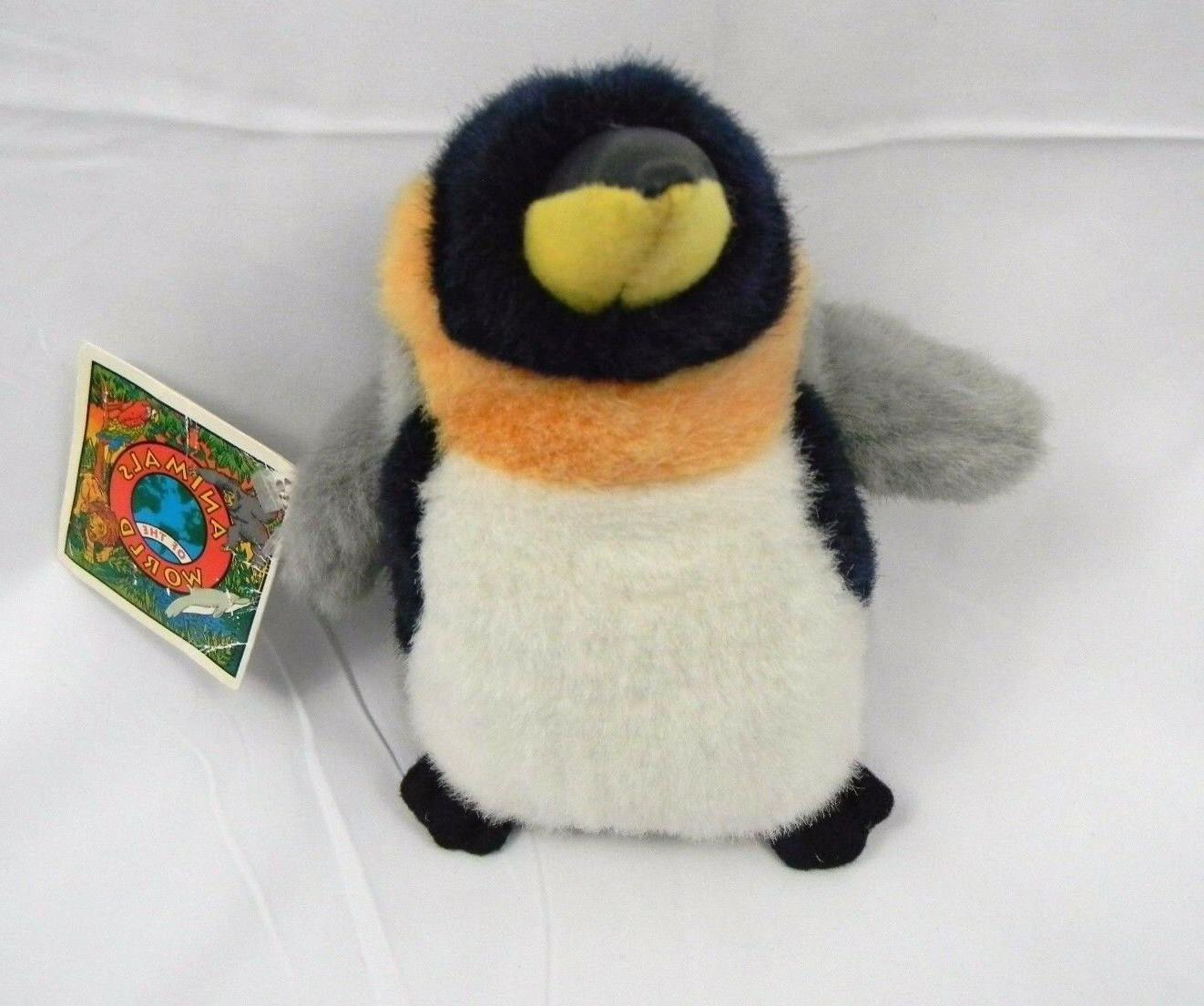 "Animals Of The World 8"" Emperor Penguin Plush Stuffed Animal"