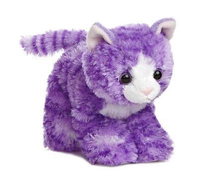 "Aurora World Molly Cat Plush Purple 8/"""