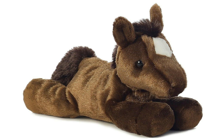 """Aurora Plush Chestnut Brown Mini Flopsie Horse 8"""""""