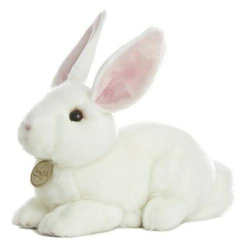 """Aurora World Miyoni Bunny 10"""" Plush, White"""