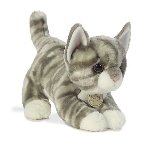 Aurora World Grey Tabby Kitten Plush
