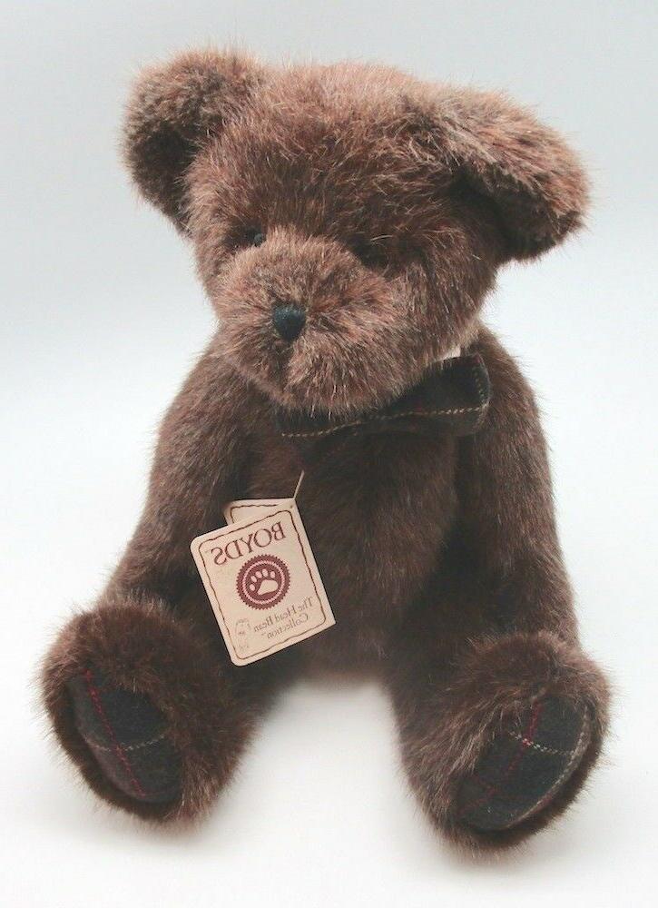 "Boyds Heirloom Teddy Bear Oswald P Beanster 16"" Plush Soft T"