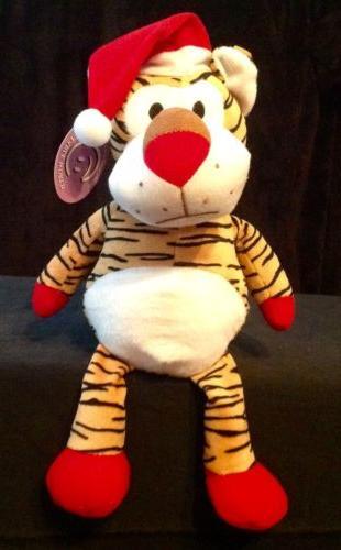 "Christmas Tiger Stuffed Animals soft plush toy 12"" doll By G"