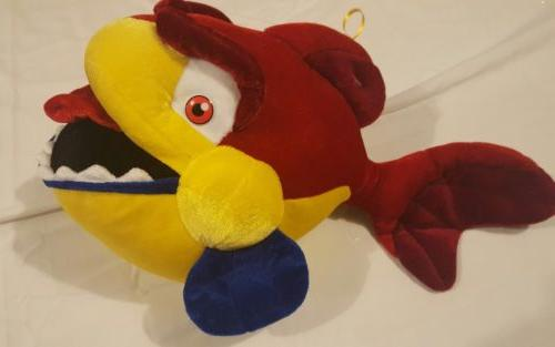Classic Toy Company Plush Stuffed Animal Big Red Cartoon Fis