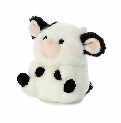 Daisy Cow Rolly Pet 5 inch - Stuffed Animal by Aurora Plush