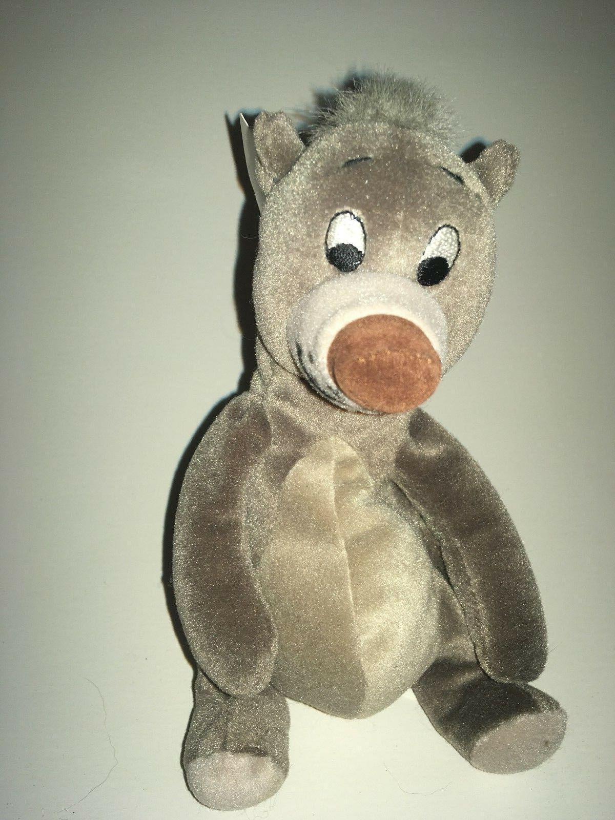 "Disney The Jungle Book Mini Bean Bag Baloo Bear  NEW 8"" Plus"