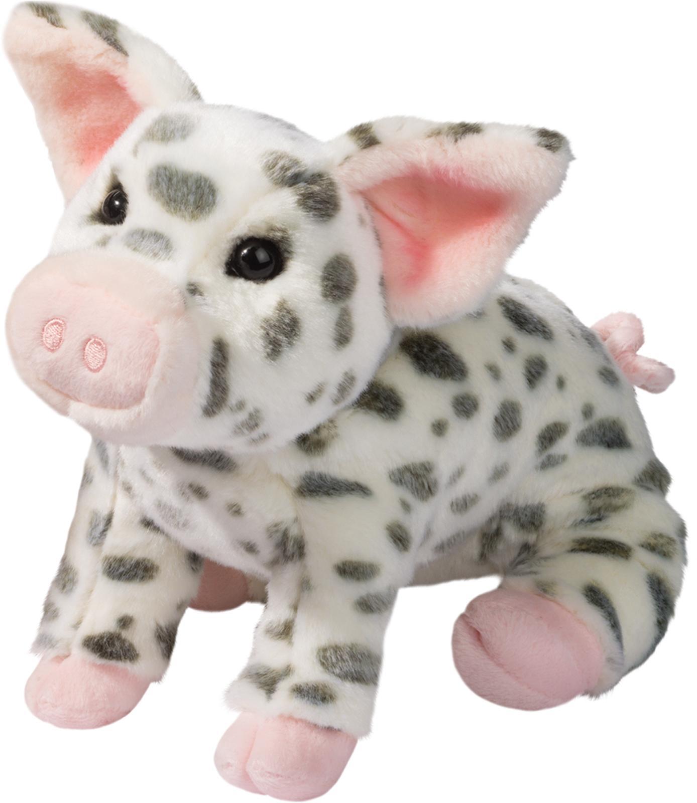 "Douglas Cuddle Toys Pauline Spotted Pig Plush Toy 10"" H"